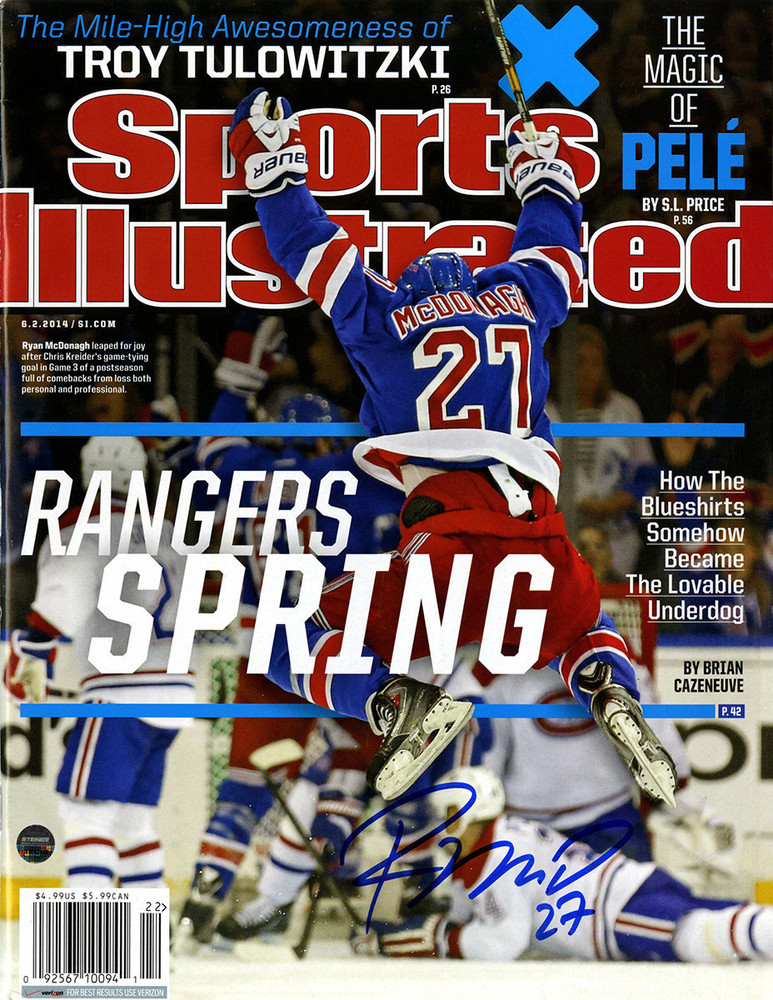 Ryan McDonagh Signed Sports Illustrated Magazine - 6/2/2014