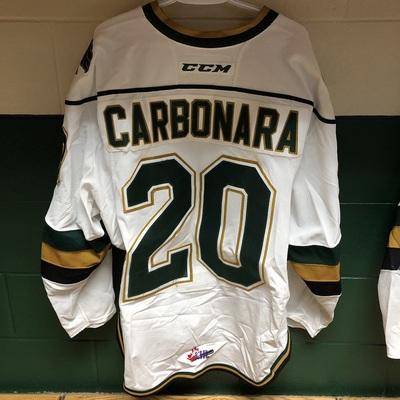 Adrian Carbonara 2016-2017 White Game Jersey