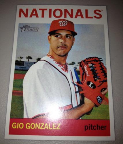 Photo of 2013 Topps Heritage #454 Gio Gonzalez SP