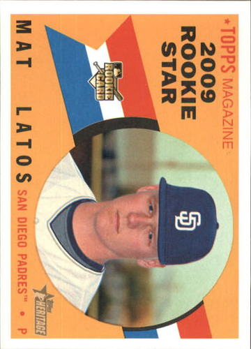 Photo of 2009 Topps Heritage #502 Mat Latos RC