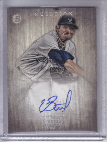 Photo of 2014 Bowman Inception Prospect Autographs #PAEB Eddie Butler
