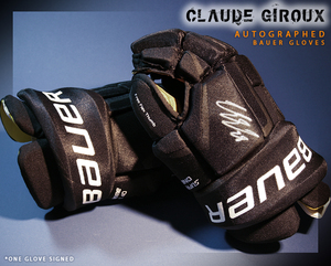 CLAUDE GIROUX Signed Philadelphia Flyers Player Brand Bauer Gloves