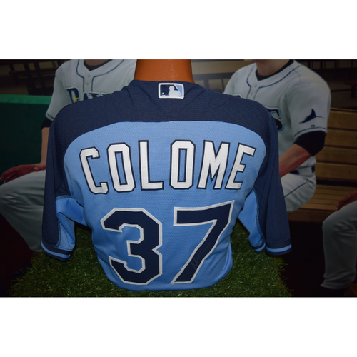 Photo of Autographed Team-Issued Batting Practice Jersey: Alex Colome