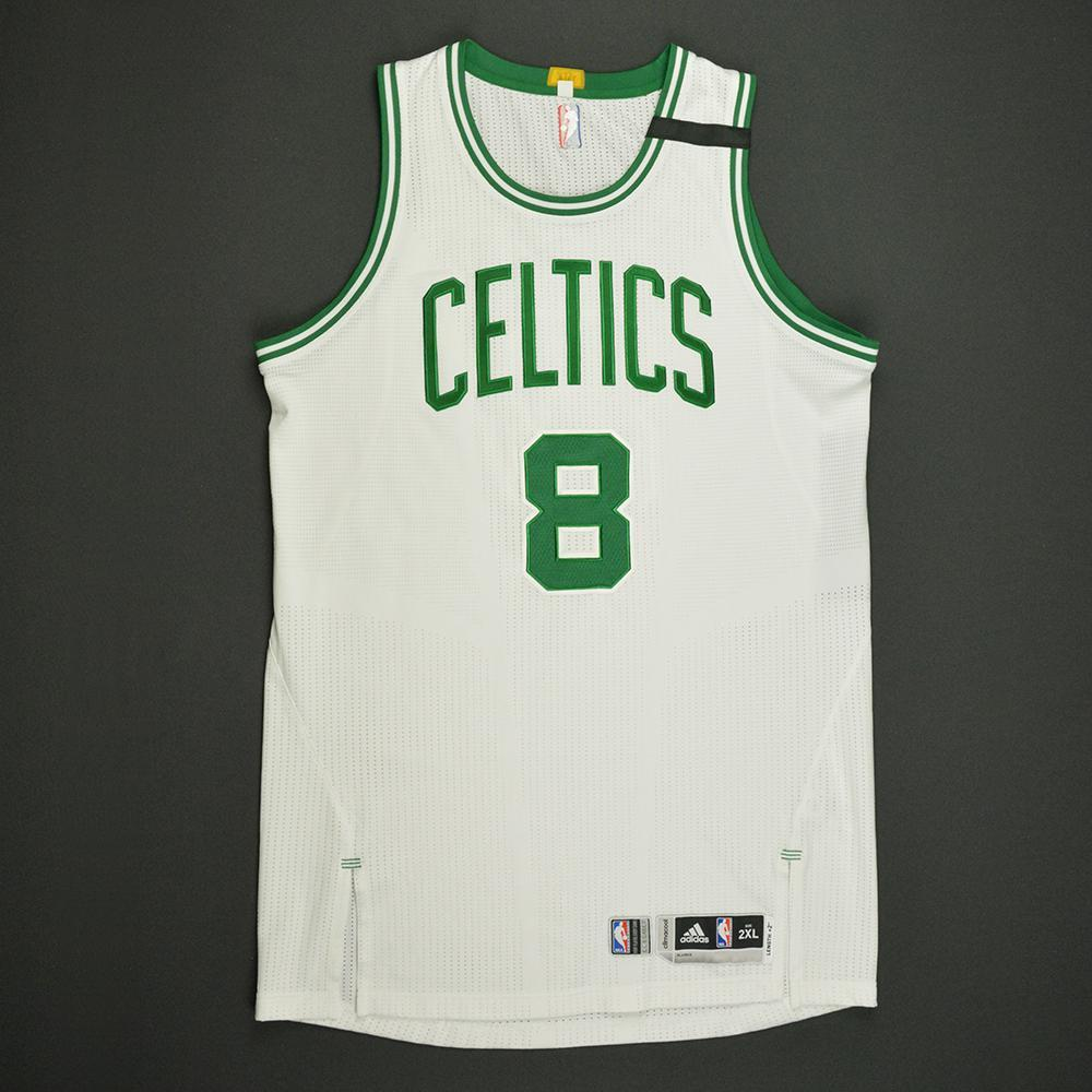 Jonas Jerebko - Boston Celtics - White Playoffs Game-Worn Jersey - 2016-17 Season