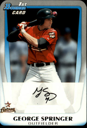 Photo of 2011 Bowman Chrome Draft Prospects #BDPP81 George Springer Pre-Rookie Card