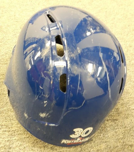 Photo of Authenticated Game Used Postseason Helmet - #30 Dioner Navarro (October 17, 2016: ALCS Game 3) Navarro went 1-for-1. Size 7 1/4.