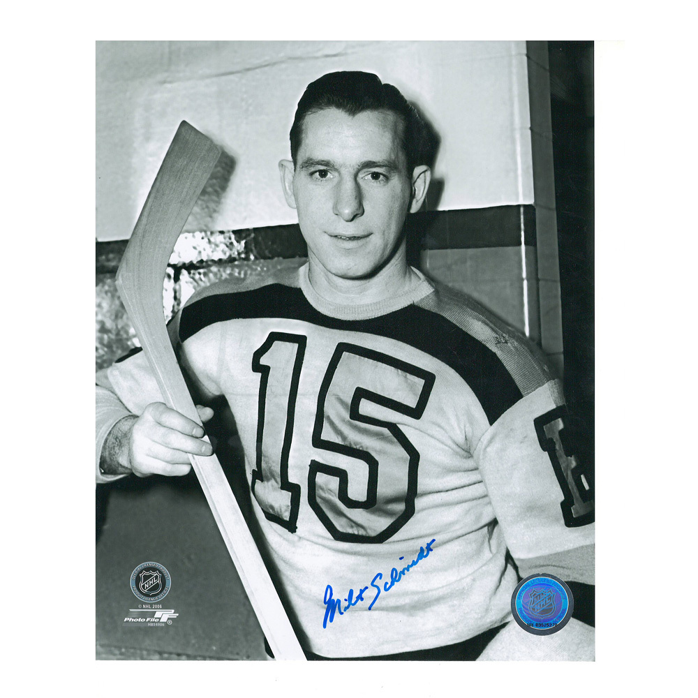 MILT SCHMIDT Signed Boston Bruins 8 X 10 Photo - 70223