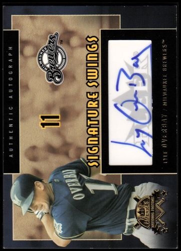 Photo of 2005 National Pastime Signature Swings Gold #LO Lyle Overbay/50