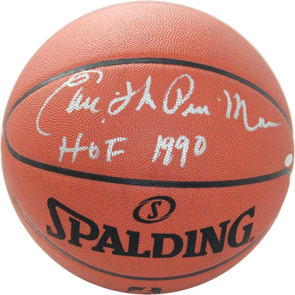 Earl Monroe Signed NBA Game Ball