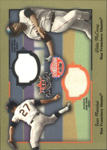 Photo of 2002 Fleer Fall Classics October Legends Game Used Dual #6 Juan Marichal Jsy/Willie McCovey Jsy