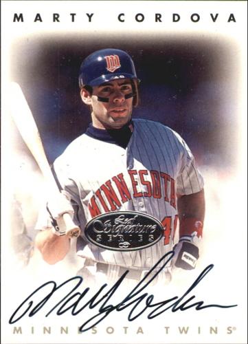 Photo of 1996 Leaf Signature Autographs Silver #50 Marty Cordova