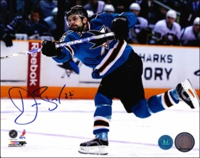 DAN BOYLE San Jose Sharks SIGNED 8x10 Photo Slapshot Photo