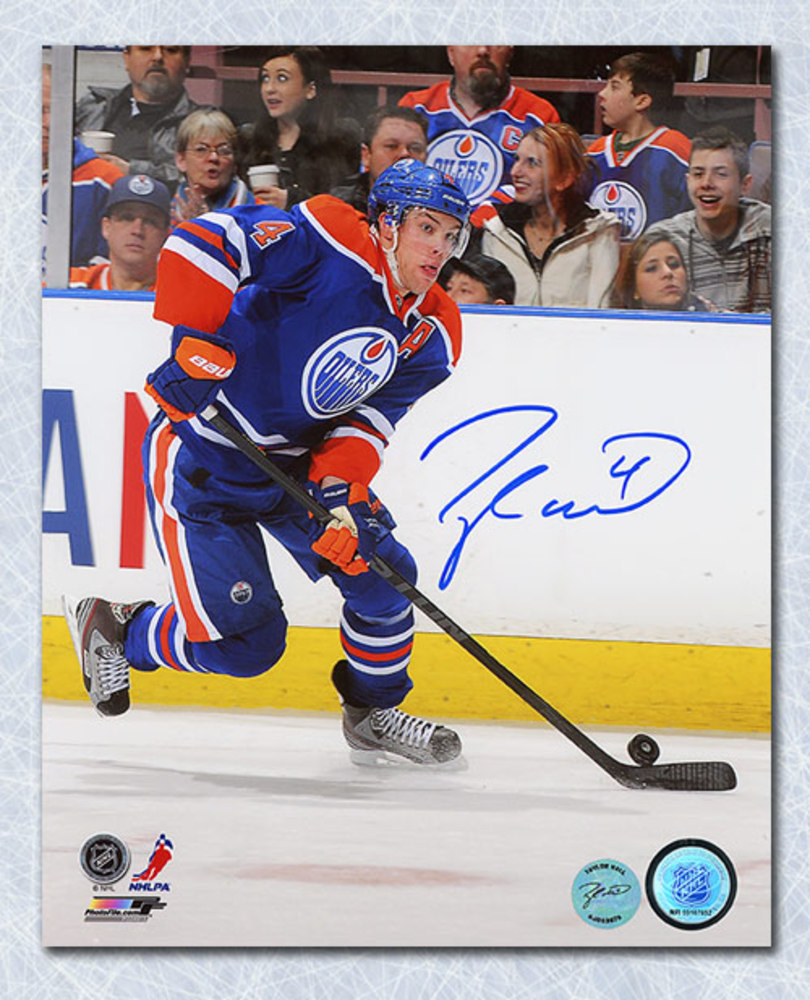 Taylor Hall Edmonton Oilers Autographed Alternate Captain 16x20 Photo