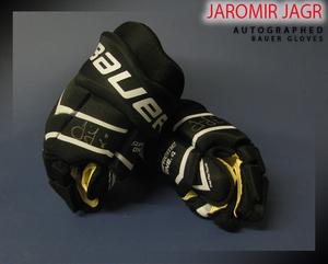 JAROMIR JAGR Signed Florida Panthers Player Brand Bauer Gloves