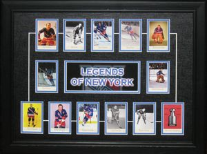 New York Rangers - Framed Hockey Hall of Fame Cards