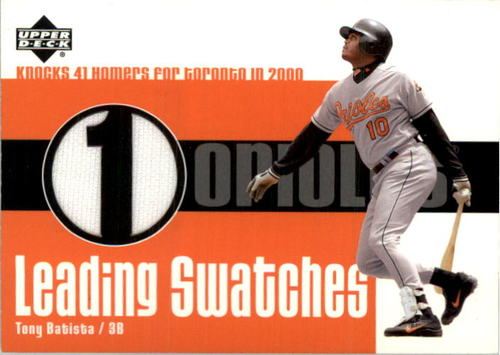 Photo of 2003 Upper Deck Leading Swatches #TB Tony Batista HR