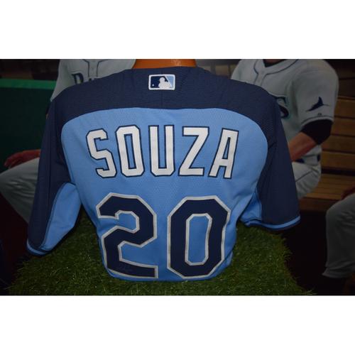 Photo of Autographed Team-Issued Batting Practice Jersey: Steven Souza Jr.