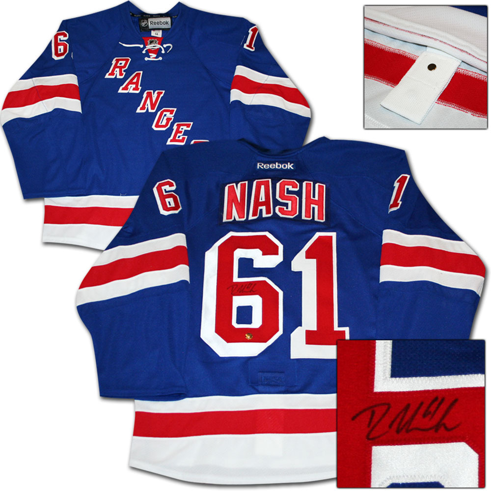 Rick Nash Autographed New York Rangers Authentic Pro Jersey
