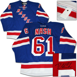 Rick Nash Autographed New York Rangers Authentic Pro Jersey