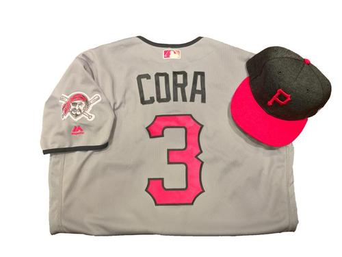 Photo of Joey Cora Game-Used Mother's Day Jersey and Hat