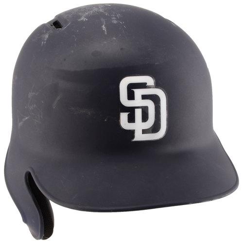 Photo of San Diego Padres Game-Used #34 Navy Helmet used during the 2016 Season