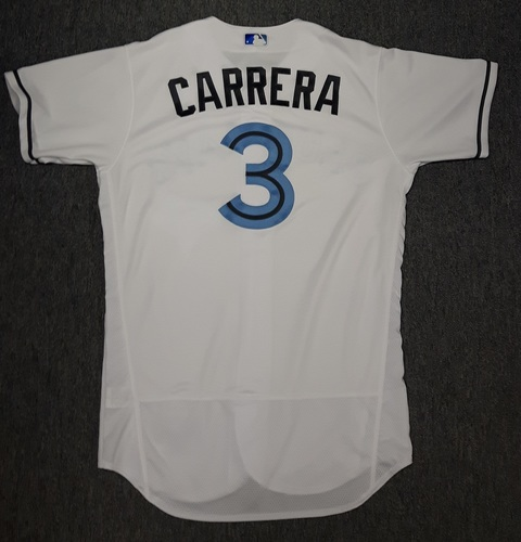 Photo of Authenticated Team Issued Father's Day Jersey - #3 Ezequiel Carrera (June 18, 2017)