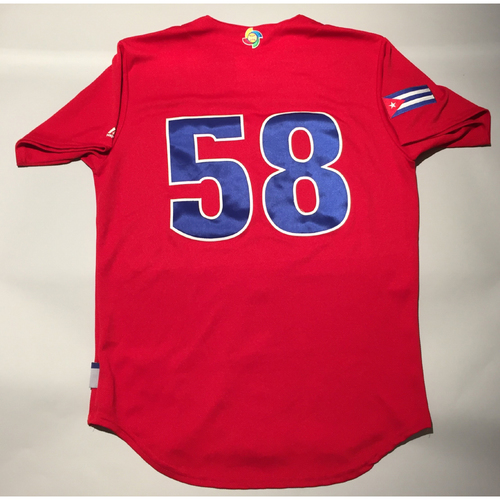 2017 WBC: Cuba Game-Used Batting Practice Jersey, #58