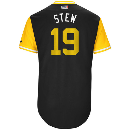 "Photo of Chris ""Stew"" Stewart Pittsburgh Pirates Game-Used Players Weekend Jersey"