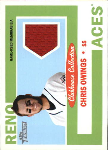 Photo of 2013 Topps Heritage Minors  Relics Chris Owings -- D'backs post-season