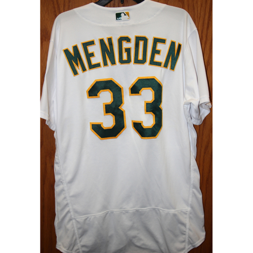"""Photo of Daniel Mengden Game-Used """"Atleticos"""" Jersey"""