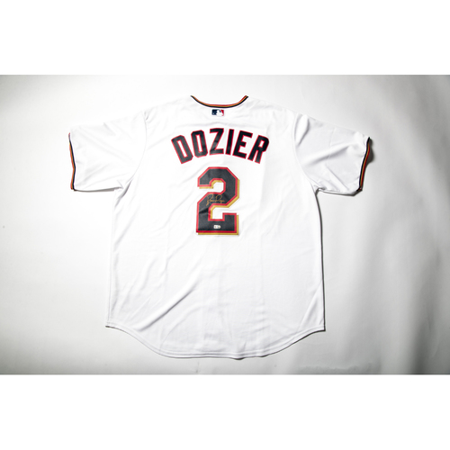 Photo of Home White Autographed Replica Jersey - Brian Dozier Size XL
