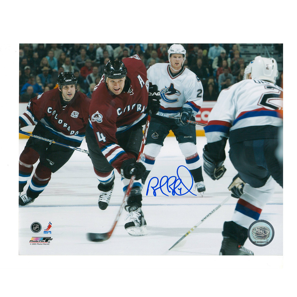 ROB BLAKE Signed Colorado Avalanche 8 X 10 Photo - 70263