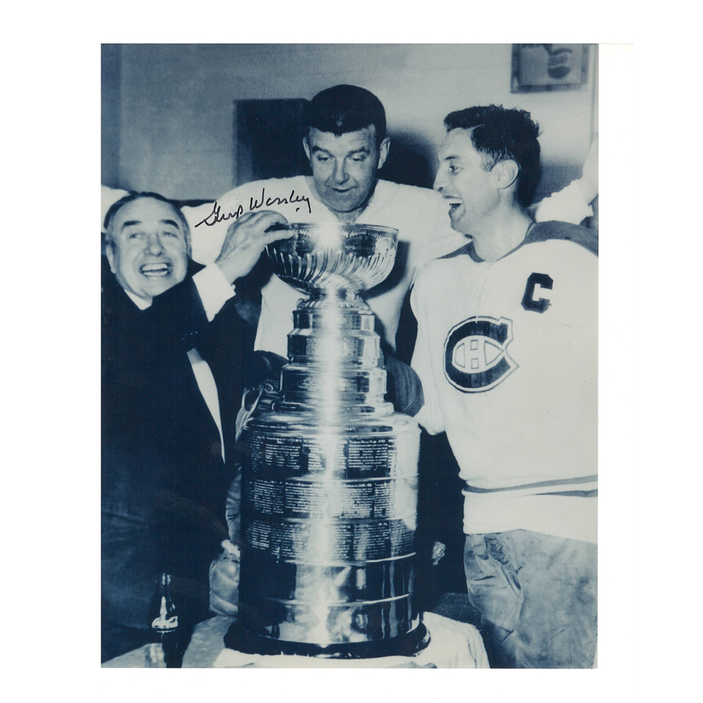 GUMP WORSLEY Signed Montreal Canadiens Cup 8 X 10 Photo - 70168