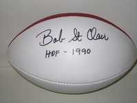 HOF - 49ERS BOB ST. CLAIR SIGNED PANEL BALL