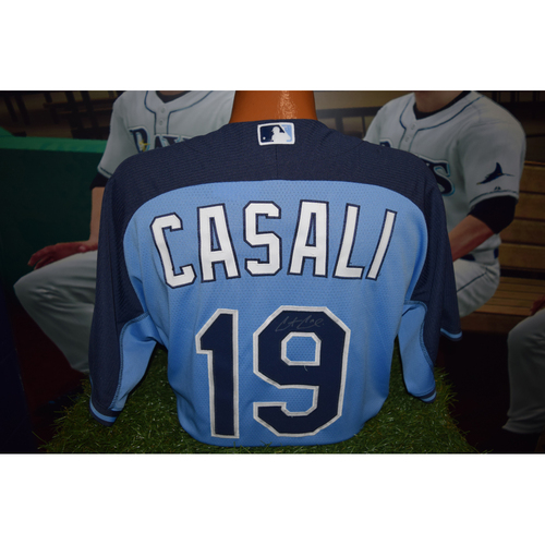 Photo of Autographed Team-Issued Batting Practice Jersey: Curt Casali