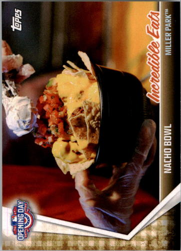 Photo of 2017 Topps Opening Day Incredible Eats #IE9 Nacho bowl