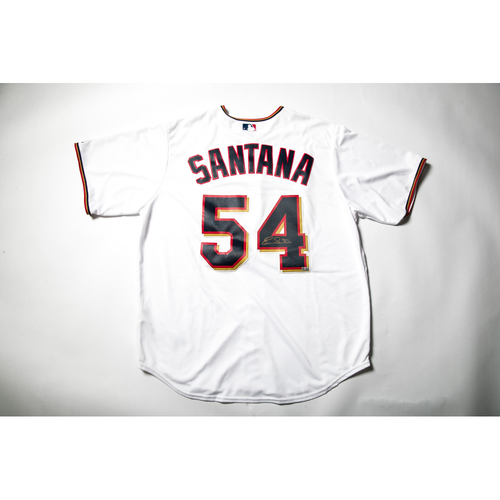 Photo of Home White Autographed Replica Jersey - Ervin Santana Size XL