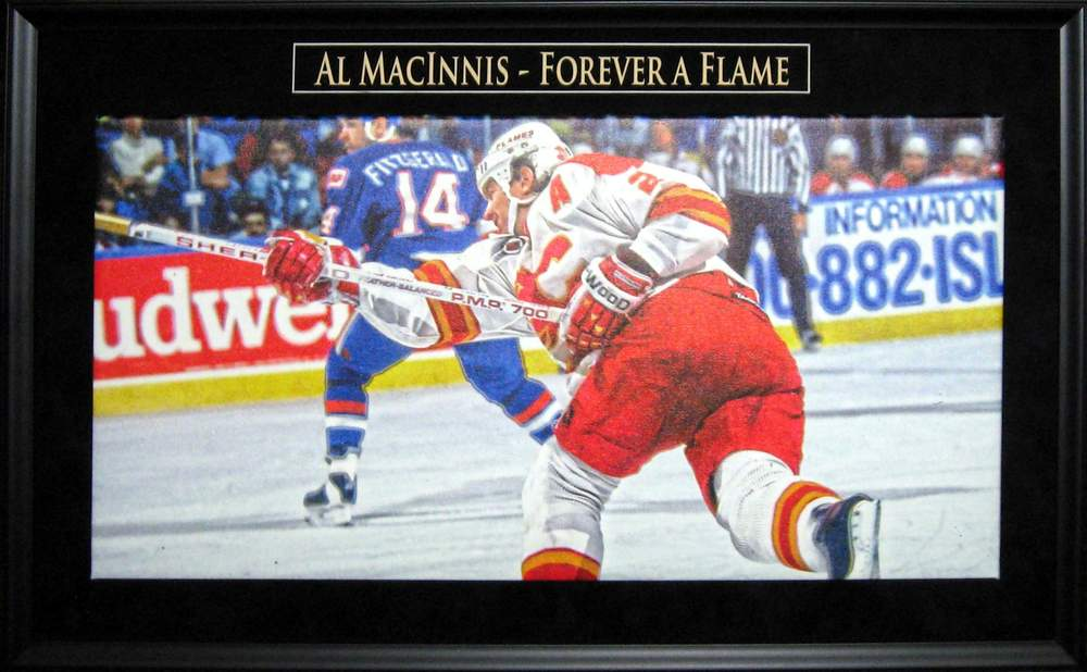 Al MacInnis - Framed & Unsigned Canvas - Calgary Flames Tribute