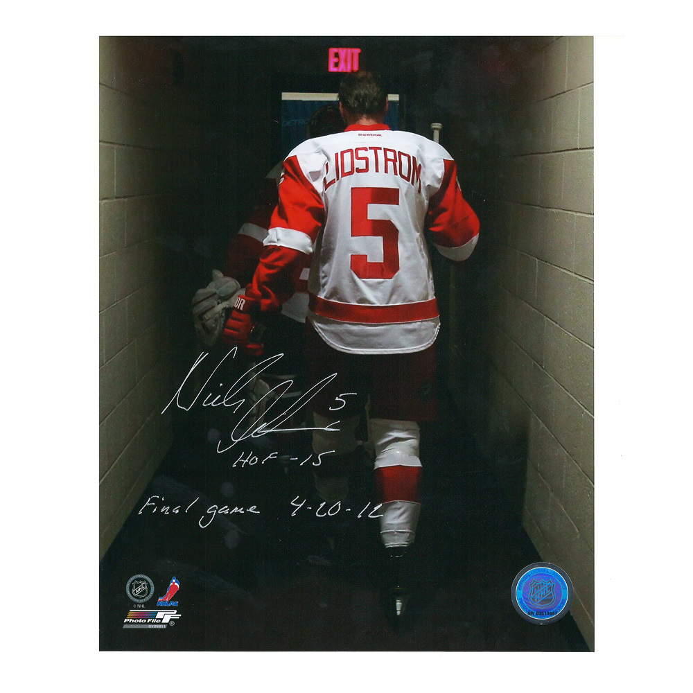 NICKLAS LIDSTROM Signed and Inscribed Detroit Red Wings 8 X 10 Photo - 70339