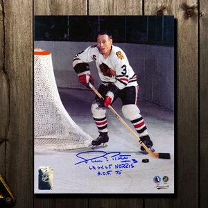 Pierre Pilote Chicago Blackhawks Autographed 16x20