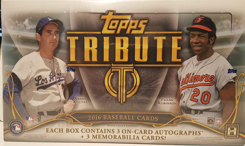 Photo of 2016 Topps Tribute Baseball Hobby Box