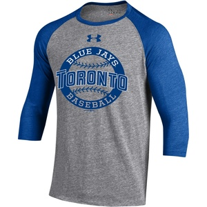 Triblend 3/4 Raglan T-Shirt Grey/Royal by Under Armour