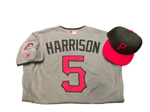 Photo of Josh Harrison Game-Used Mother's Day Jersey and Hat