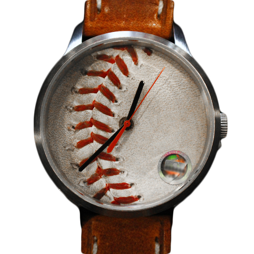 Photo of Game-Used Baseball Watch (Lorenzo Cain Single)
