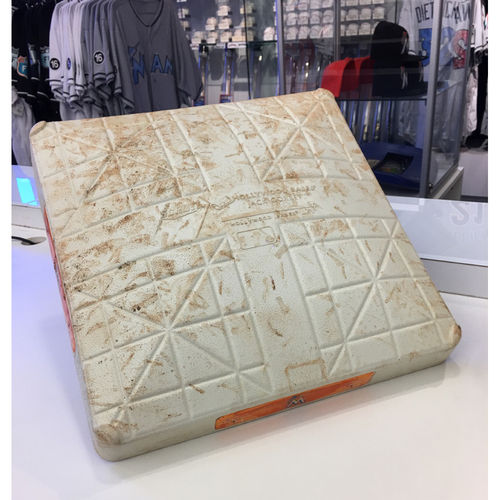 Photo of Edinson Volquez No Hitter Game-Used Base (1st Base, 7th-9th inn.)