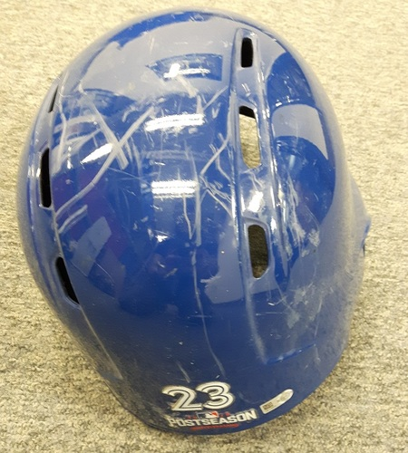 Photo of Authenticated Team Issued 2016 Postseason Helmet - #23 Dalton Pompey. Size 7 3/8.
