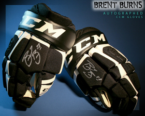 BRENT BURNS Signed San Jose Sharks Player Brand CCM Gloves
