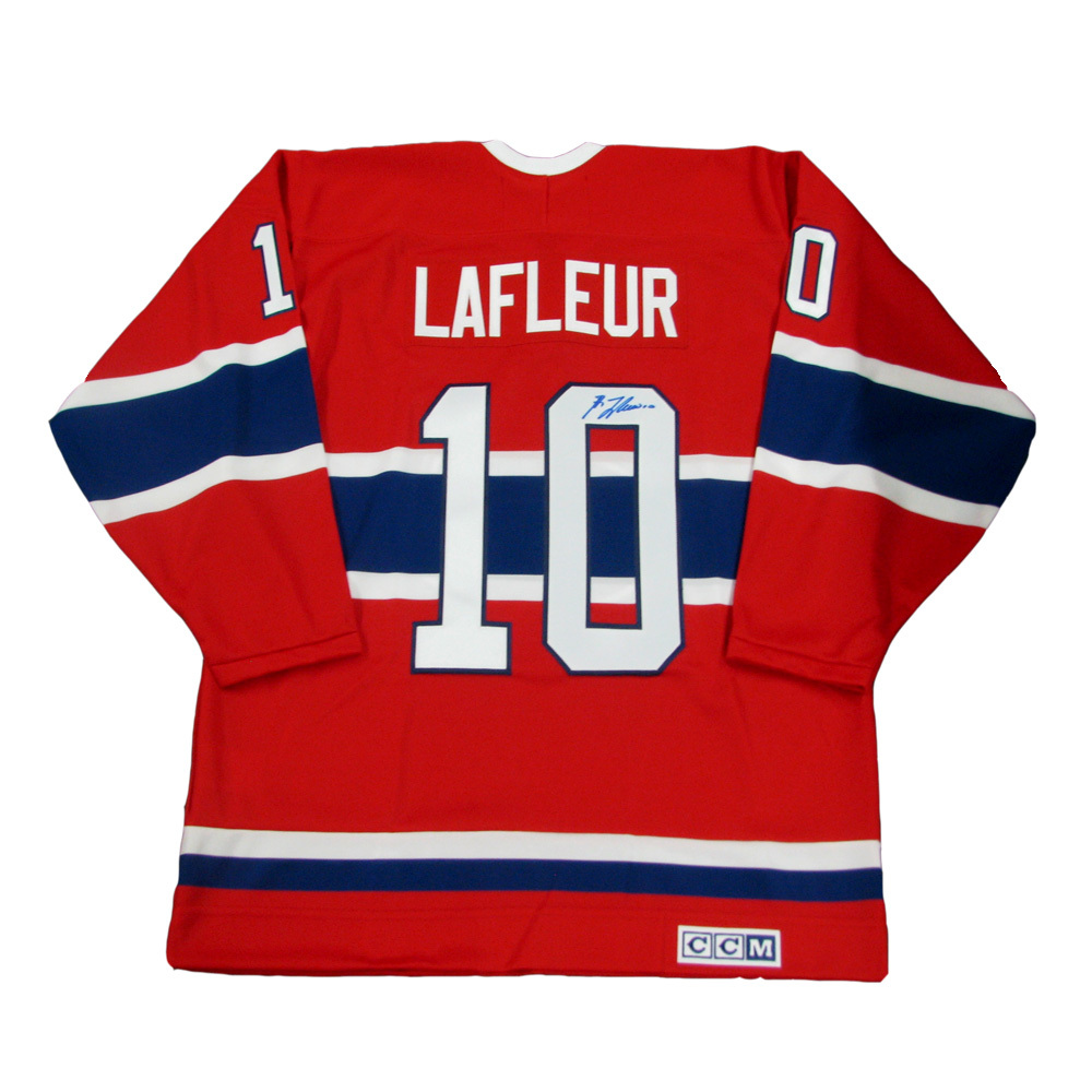 GUY LAFLEUR Signed Montreal Canadiens Red CCM Vintage Jersey