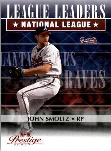 Photo of 2003 Playoff Prestige League Leaders #12 John Smoltz SV