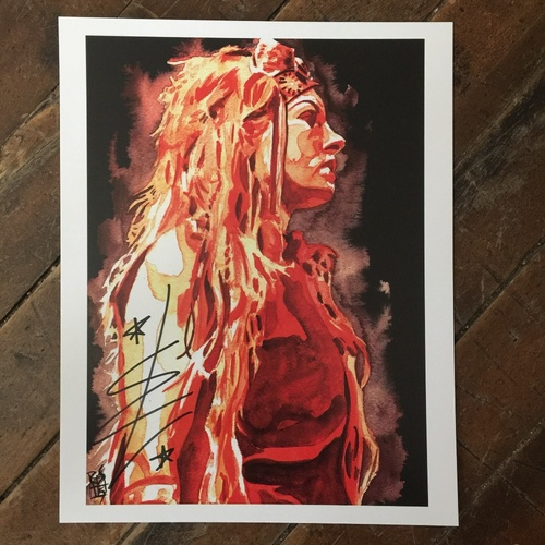 Photo of Becky Lynch SIGNED 11 x 14 Rob Schamberger Print